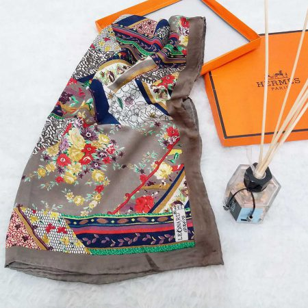 روسری ابریشم مامی دست دوز sr-n480