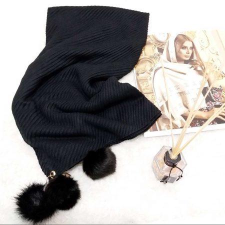روسری پاییزه پم پم پلیسه sr-n462