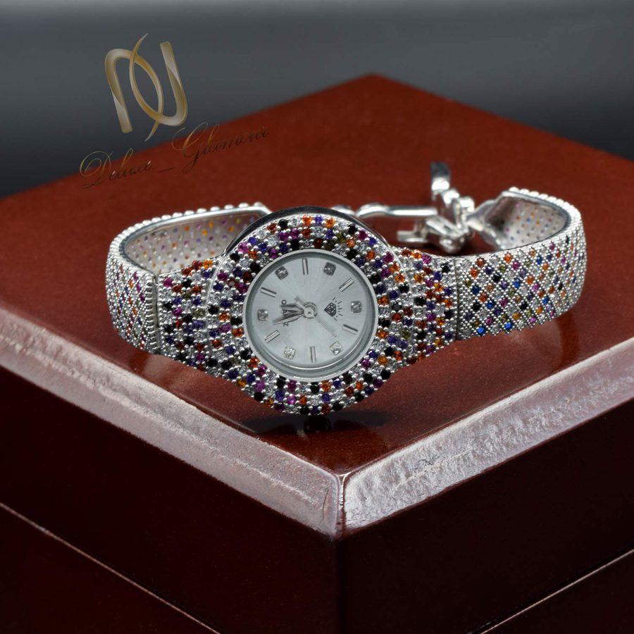 ساعت زنانه نقره طرح پرنس جواهری wh-n184