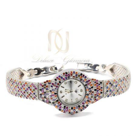 ساعت زنانه نقره طرح پرنس جواهری wh-n184 از نمای سفید