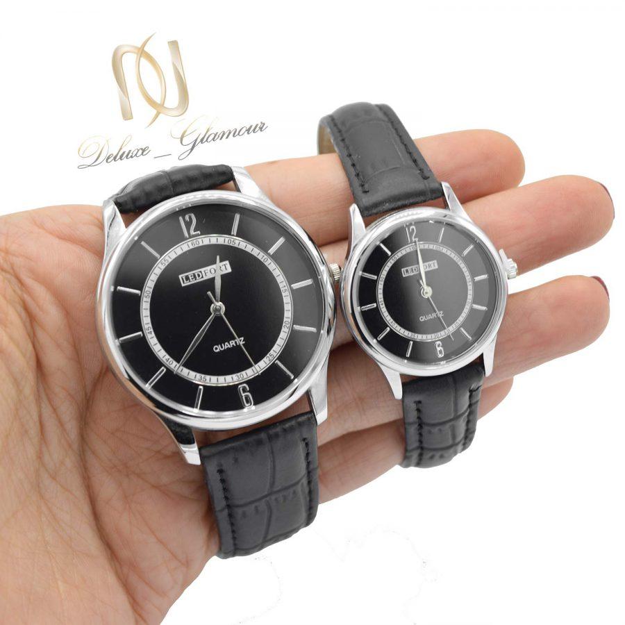 ساعت ست چرمی اسپرت wh-n181 از نمای روی دست