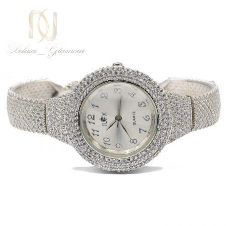 ساعت نقره عروس جواهری wh-n182 از نمای سفید