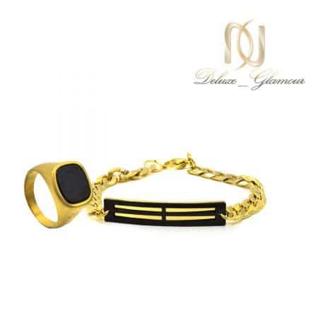 ست دستبند و انگشتر مردانه اسپرت ns-n506 از نمای سفید
