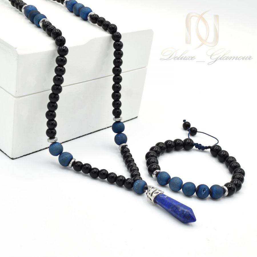 ست دستبند و گردنبند مردانه اسپرت ns-n511 از نمای کنار