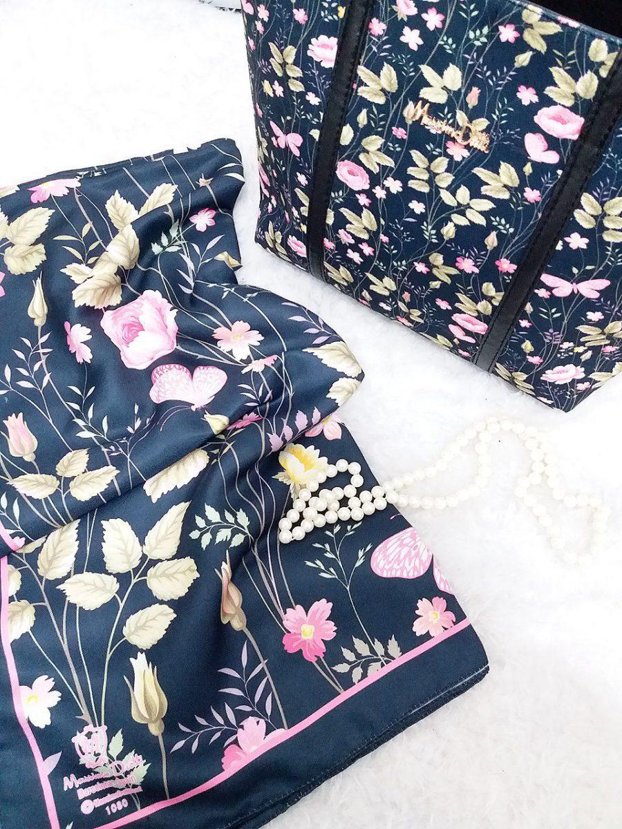 ست کیف و روسری گلدار sr-n438