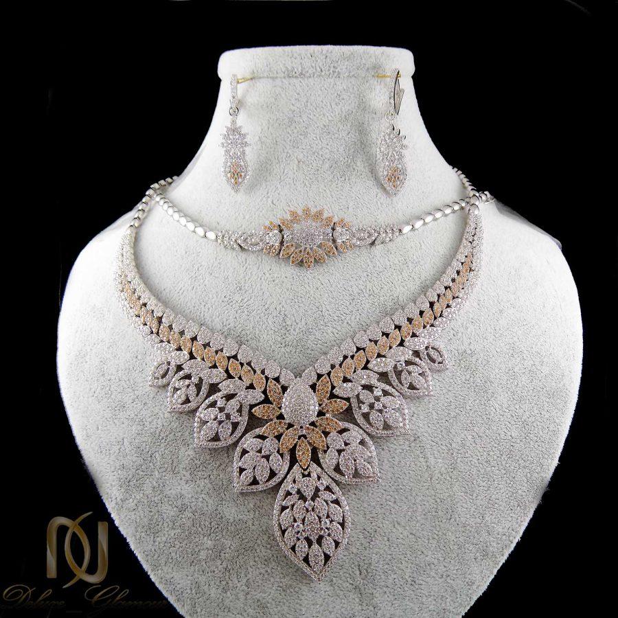 سرویس نقره جواهری زنانه ma-n403 از نمای مشکی