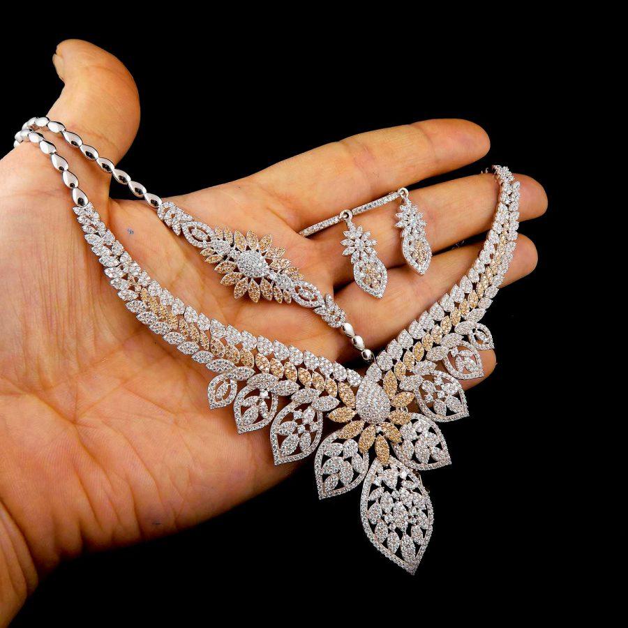 سرویس نقره جواهری زنانه ma-n403 از نمای نزدیک