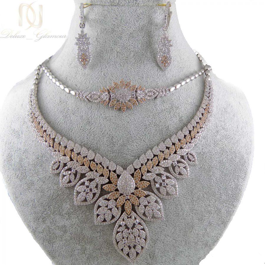 سرویس نقره جواهری زنانه ma-n403 از نمای سفید