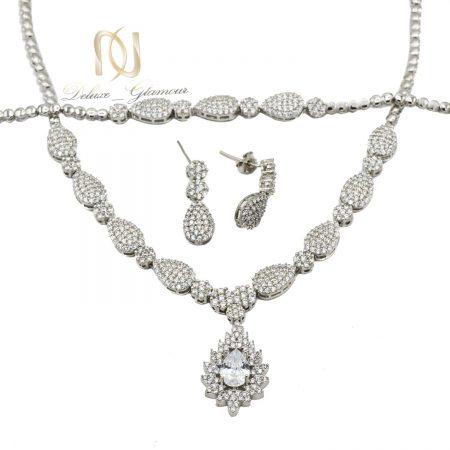 سرویس نقره عروس جواهری ns-n501 از نمای سفید