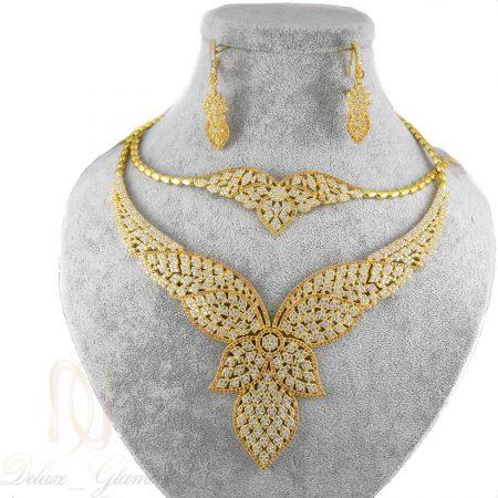 سرویس نقره عروس طرح طلا ma-n401 از نمای سفید