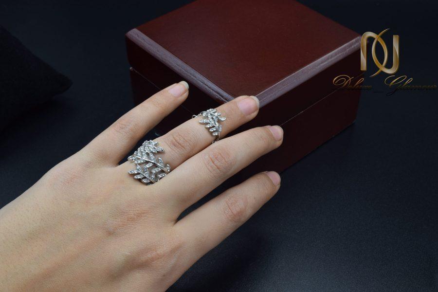 نیم بند و انگشتر زنانه زنجیری استیل rg-n474 از نمای بالا