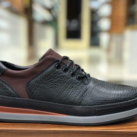 کفش مردانه تمام چرم اسپرت sh-n103 از نمای روبرو