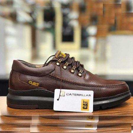 کفش مردانه چرم دست دوز طرح کاترپیلار sh-n104 از نمای روبرو