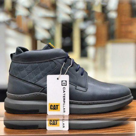 کفش مردانه چرم طرح کاترپیلار sh-n108 از نمای روبرو