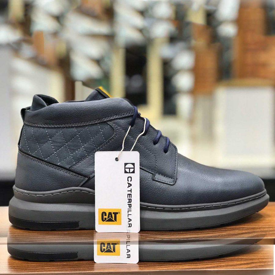 کفش مردانه چرم طرح کاترپیلار sh-n108