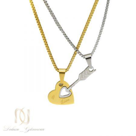 گردنبند ست دو نفره عاشقانه nw-n637 از نمای سفید