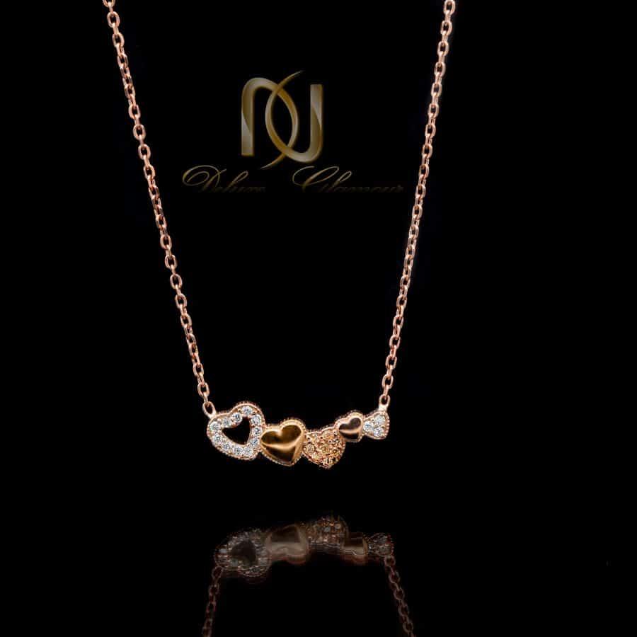 گردنبند نقره دخترانه طرح قلب nw-n635