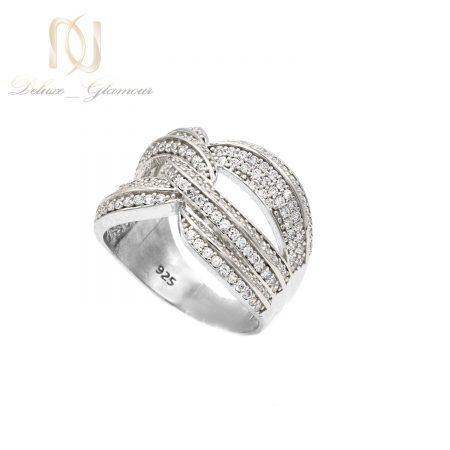 انگشتر نقره زنانه طرح جدید نگین دار rg-n489 از نمای سفید