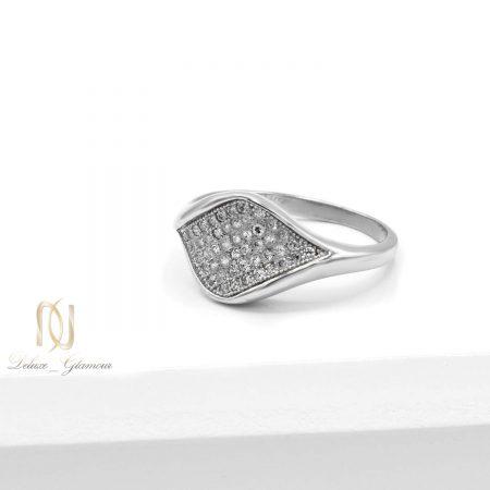انگشتر نقره زنانه ظریف rg-n485 از نمای سفید