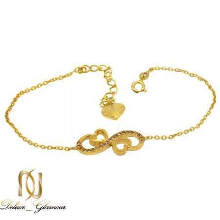 دستبند دخترانه بی نهایت نقره 925 اصل MA-N419 از نمای سفید