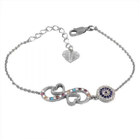 دستبند دخترانه ظریف نقره اصل ma-n 415