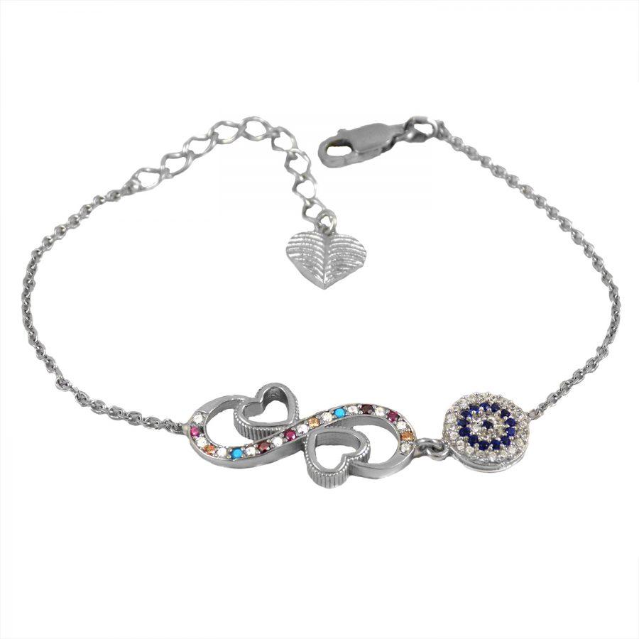 دستبند دخترانه ظریف نقره اصل ma-n 415 از نمای سفید