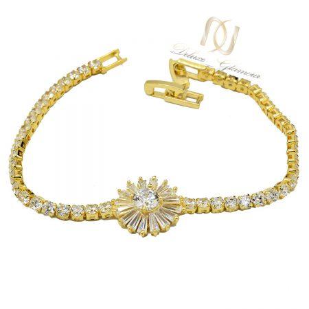 دستبند دخترانه نگین سواروسکی کلیو ds-n561 از نمای سفید