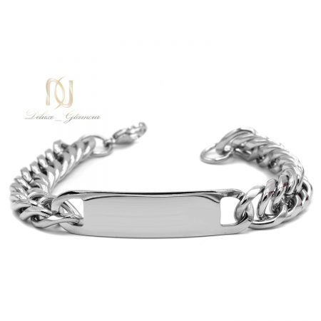 دستبند مردانه فلزی طرح طلا ds-n568 از نمای روبرو