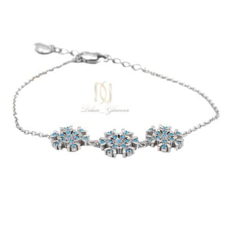 دستبند نقره دخترانه طرح دونه برف ma-n422 از نمای سفید