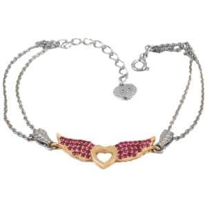 دستبند نقره دخترانه ظریف ma-n418 از نمای سفید