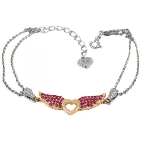 دستبند نقره دخترانه ظریف ma-n418