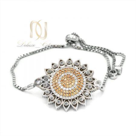 دستبند نقره طرح جدید نگین دار ds-n570 از نمای سفید