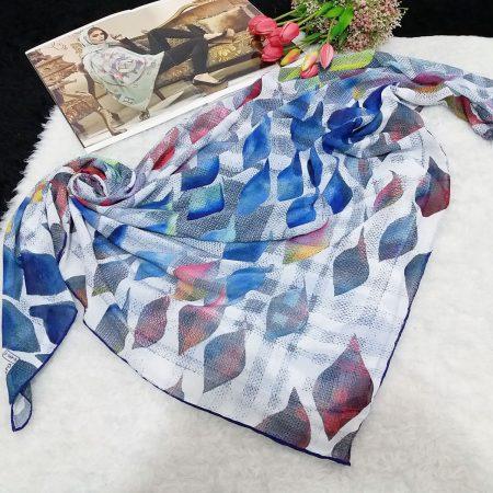 روسری حریر کرپ لوزی sr-n555