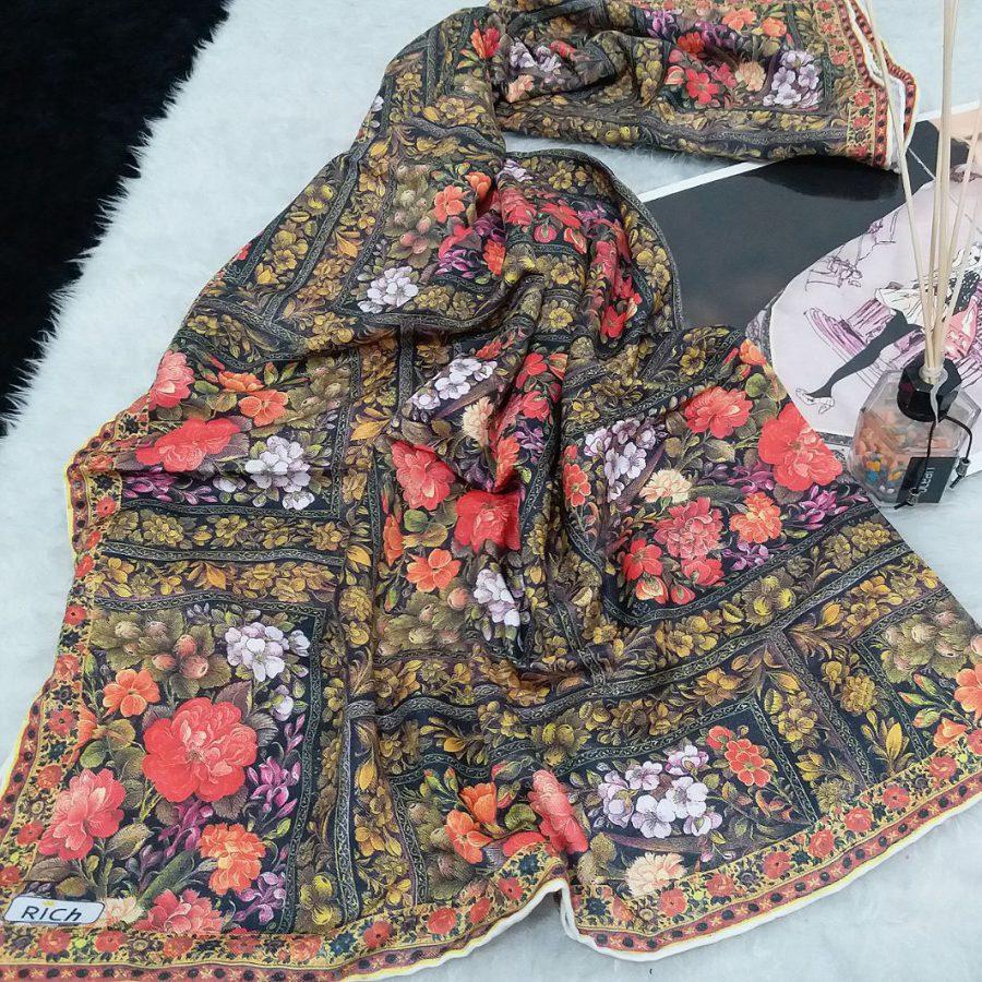 روسری پاییزه دست دوز sr-n494