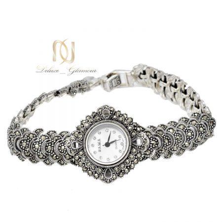 ساعت زنانه نقره اصل سما wh-n188 از نمای سفید
