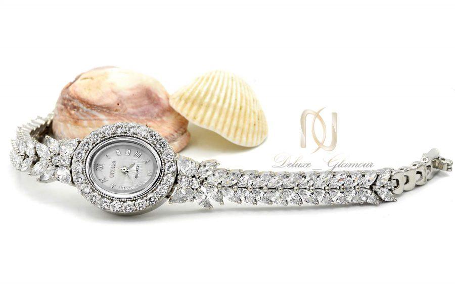 ساعت نقره عروس جواهری جدید wh-n185 از نمای روبرو