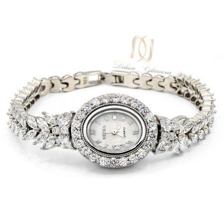 ساعت نقره عروس جواهری جدید wh-n185 از نمای سفید
