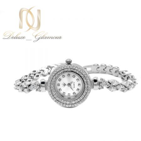 ساعت نقره 925 اصل جواهری wh-n187 از نمای روبرو