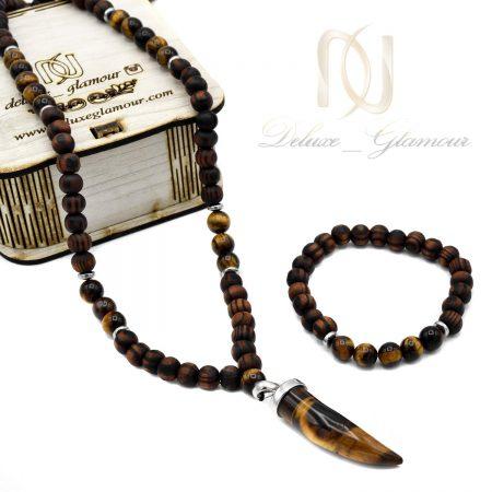 ست دستبند و گردنبند مردانه اسپرت ns-n519 از نمای روبرو