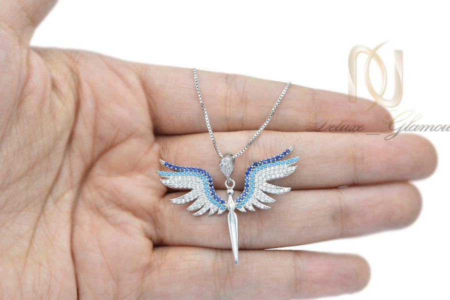 گردنبند دخترانه جدید نقره اصل nw-n652 از نمای روی دست