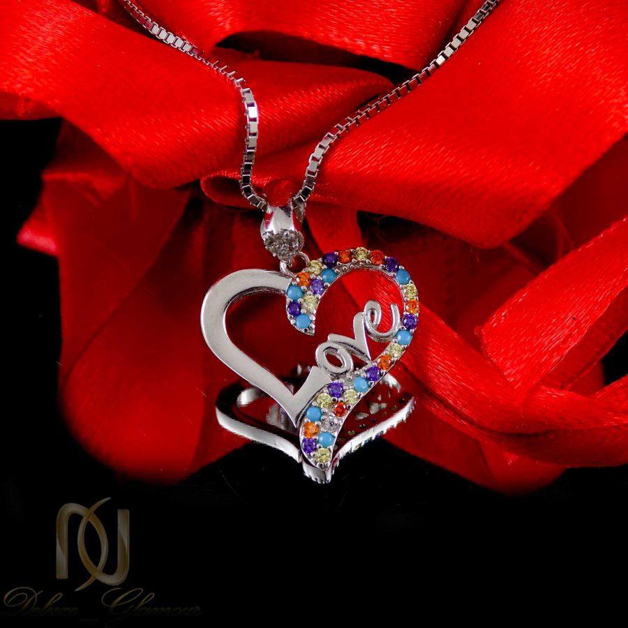 گردنبند طرح قلب نقره عیار 925 اصل ma-n409 از نمای نزدیک