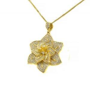 گردنبند نقره زنانه طرح طلا ma-n420 از نمای سفید