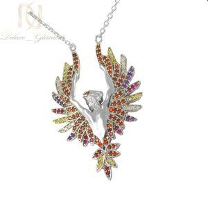 گردنبند نقره زنانه طرح فرشته ma-n417از نمای سفید