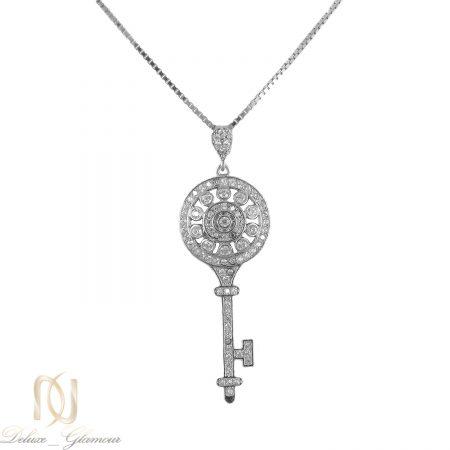 گردنبند کلید نقره عیار 925 اصل ma-n411 از نمای سفید