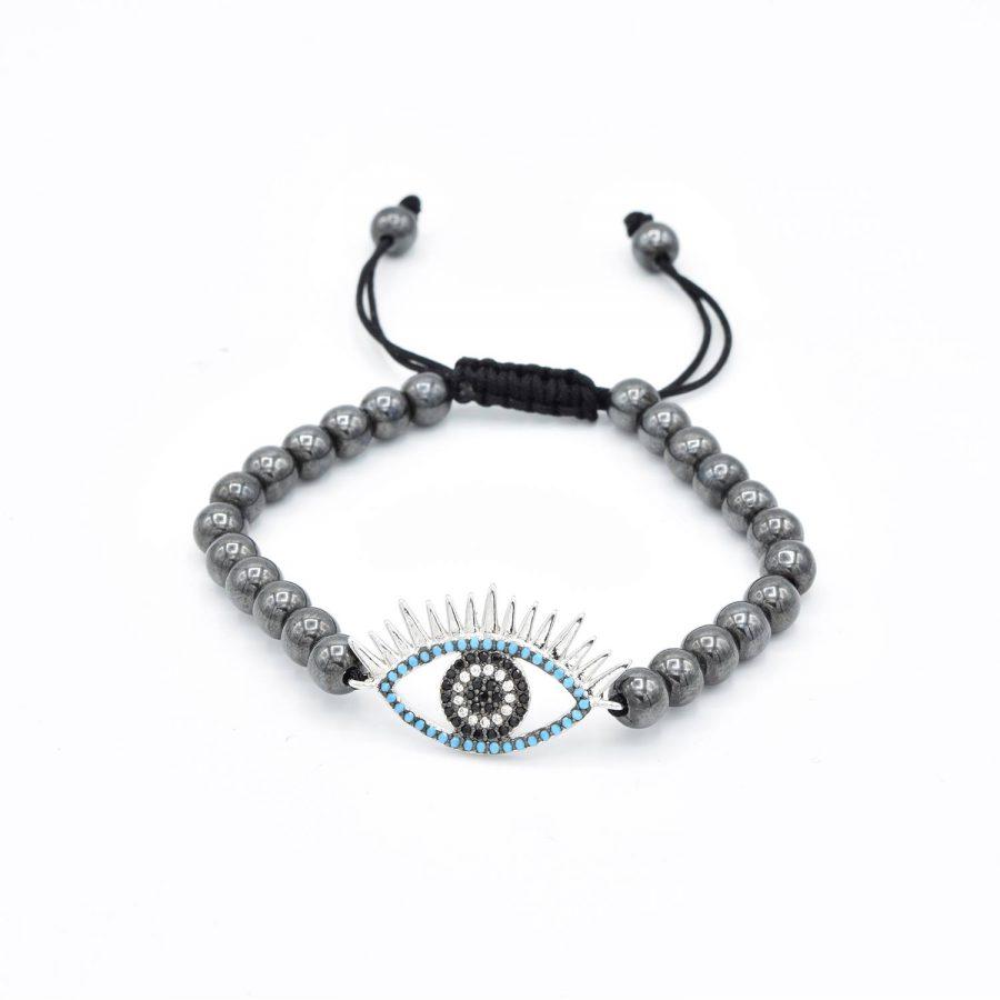 دستبند دخترانه طرح چشم سنگی ds-n580