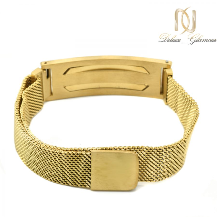 دستبند مردانه مونت بلانک طلایی حصیری ds-n578