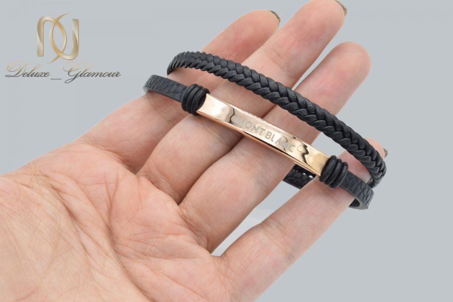 دستبند چرم مردانه مونت بلانک ds-n586