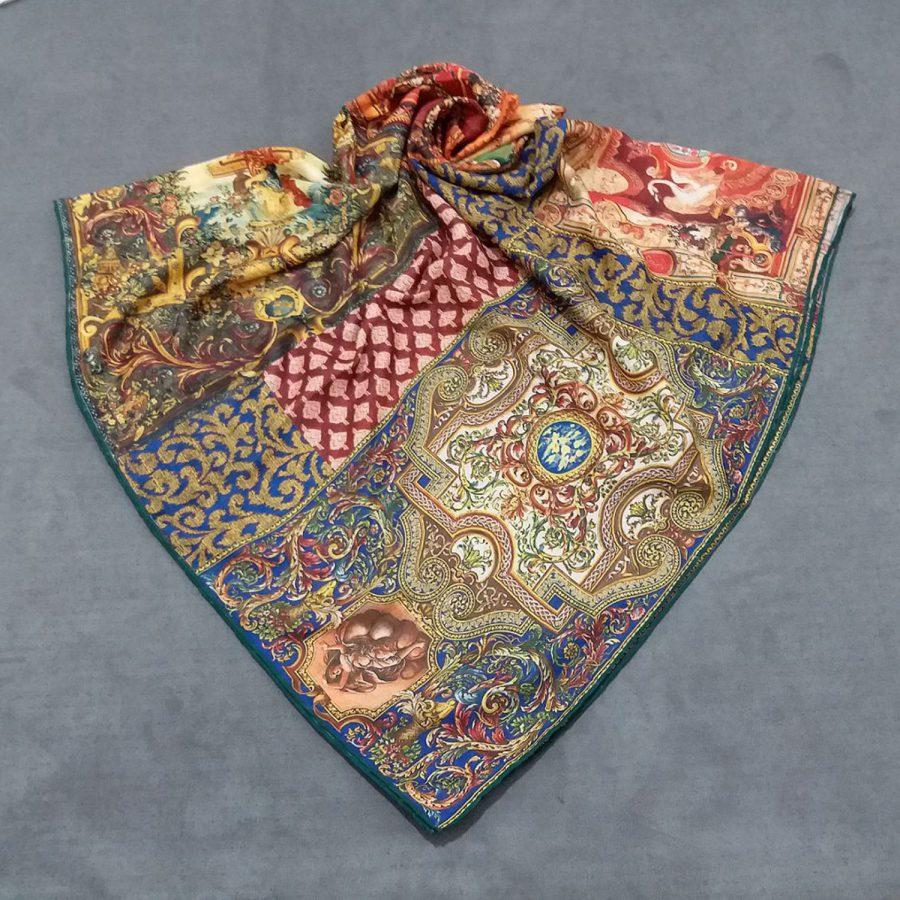 روسری نخی جدید طرح کلاسیک sr-n658