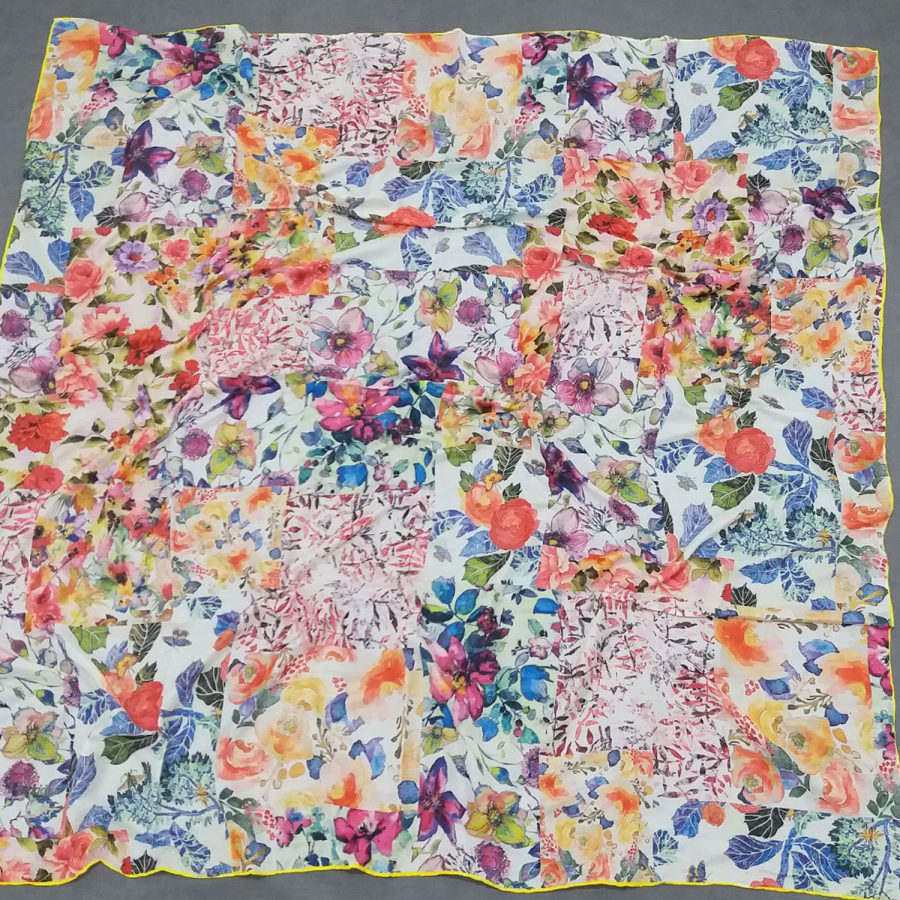 روسری نخی جدید طرح گلدار sr-n662