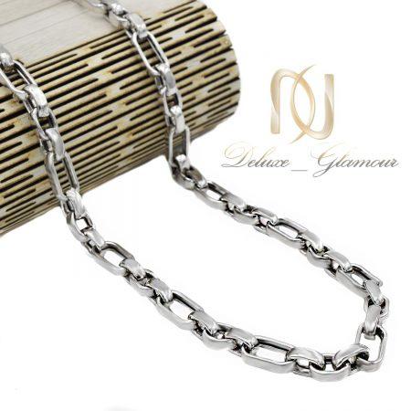 زنجیر نقره مردانه کابلی 60 سانتی nw-n660 از نمای کنار